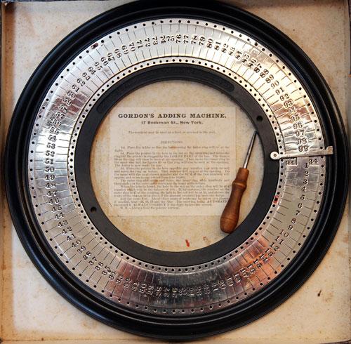 Gordon's circular adding machine