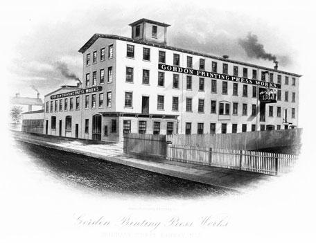 Gordon Printing Press Works in Rahway, New Jersey