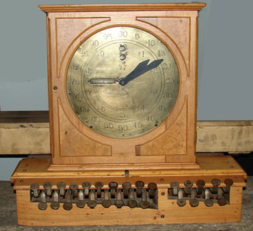 The first model of James Ritty's cash register