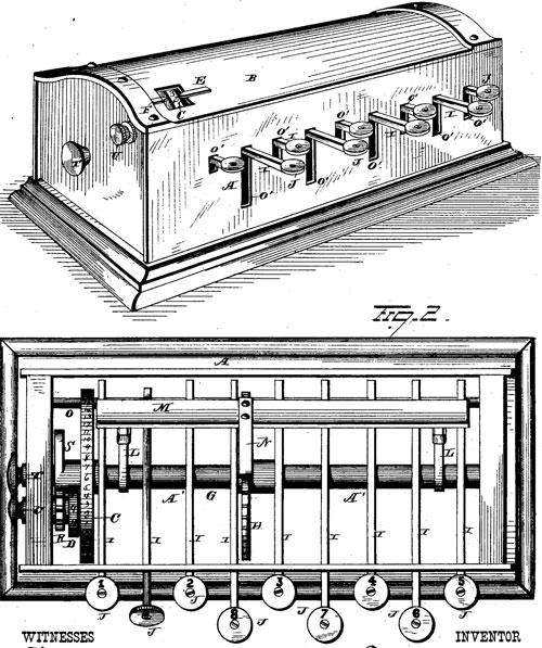 Fawcett Plumb's patent drawing