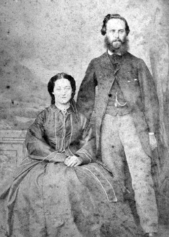 Leonard Stowe and his wife Jane Stowe (Greenwood) in early 1870s (Image courtesy of Marlborough Museum, Marlborough Historical Society Inc.)
